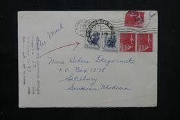 ETATS UNIS - Enveloppe De Bloomfield Pour La Rhodésie Du Sud En 1963 - L 70731 - Cartas