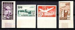 Maroc Poste Aérienne Maury N° 85/88 Non Dentelés Neufs ** MNH. TB - Marokko (1891-1956)