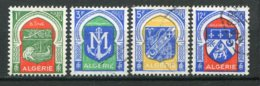 19392 ALGERIE N°337, 337B, 337C, 337F ° Armoiries De Villes : Bône, Mostaganem, Tlemcen, Orléansville  1956-58  TB - Algeria (1924-1962)