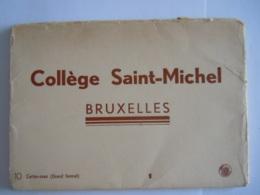 Bruxelles Collège Saint-Michel 10 Cartes-vues (grand Format) 14,8 X 10,6 Cm Nels - Education, Schools And Universities