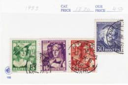 6503) Switzerland 1933 Set Postmark Cancel - Used Stamps