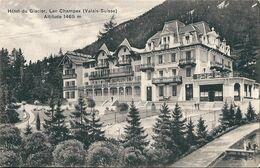 VALAIS   (  Suisse  )   Hotel Du Glacier  -   Lac Champex  -  (  Surcharge  R  Sur  Timbre  5 / 2  ) - VS Valais