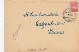 Lithuania Local Cover From TRAIN To Kaunas 1956 #25034 - Lituania