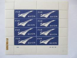Luftfahrt Concorde, Kleinogen Luftpostaufkleber Par Avion Xx (48458) - Flugzeuge