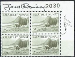 Czeslaw Slania. Greenland 1969. Greenlandic Animal World. Michel 74, Plate Block MNH. Signed. - Nuovi