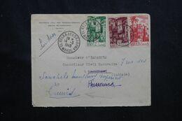 MAROC - Enveloppe Du Controle Civil Des Srarhna-Zemrane  Pour Kasserine En 1949 Et Redirigé Vers Tunis - L 70752 - Briefe U. Dokumente