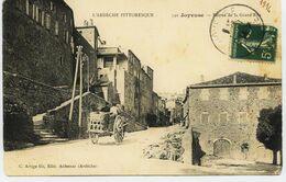 4821 -  Ardéche -  JOYEUSE  : Entrée De La Grande Rue ,  Attelage.....- Circulée En 1914 - Joyeuse