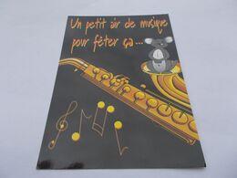 MOUSE CARTOON  SOURIS SAXOPHONE  UN PETIT AIR DE MUSQIUE POUR FETER CA   Edit   MILABERTO CESTAS - Humor