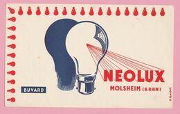 Bu1 Buvard Illustré 200x122 Ampoules Neolux    Molsheim  Bas-Rhin     (verso 1 Petite Tache) - Electricity & Gas