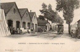 Baesrode  Rue De La Station  Roulotte Bien Animée Circulé En 1906 - Belgien