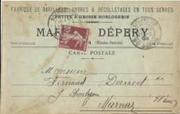 Scionzier  Carte Pub Marie _ A _ Dépery Circulé 1924 - Scionzier