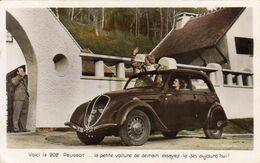 Voici La 202 PEUGEOT La Petite Voiture De Demain  ......... Carte Publicitaire - Passenger Cars