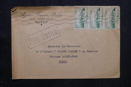 MAROC - Enveloppe De L' A.F.P. De Rabat Pour L 'A .F.P.de Tunis En 1949 - L 70768 - Briefe U. Dokumente