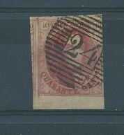 N°8  OBLITERE P 24  BRUXELLES.BORD DE FEUILLE - 1851-1857 Médaillons (6/8)