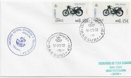 3550   Carta Basauri 2002,  Vizcaya  , Etiquetas, Moto - 1931-Aujourd'hui: II. République - ....Juan Carlos I