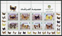 Arabie Saoudite  Papillons  1195/1210 **  4 Trous D'épingles Sur Le Haut De Chaque Bloc - Papillons
