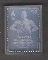 100 Years Since Estonia's First Olympic Victory Estonia 2020 MNH Silver Stamp In A Plastic Capsule (will Send In Parcel) - Estonia