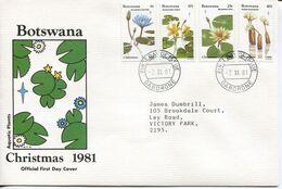 Botswana Mi# 287-90 Used On Official FDC - Flora - Botswana (1966-...)