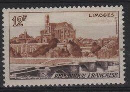 FR 1476 - FRANCE N° 1019 Neuf* Limoges - Francia