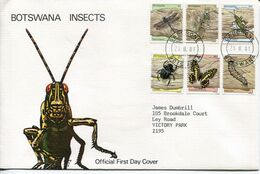 Botswana Mi# 264-9 Used On Official FDC - Fauna Insects - Botswana (1966-...)