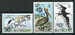 St Vincent 1974 Birds - SPECIMEN - Set MNH (SG 396-398) - St.Vincent (...-1979)