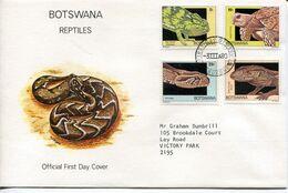 Botswana Mi# 243-6 Used On Official FDC - Fauna Reptiles - Botswana (1966-...)