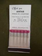 Pochette D' Allumettes / Publicité ANTAR TRI SUPER Motygraphite / Matchbook Match Tas Streichholzschachtel - Matchboxes