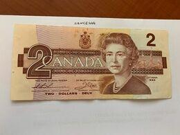Canada 2 Dollars Circulated Banknote 1986 #2 - Canada