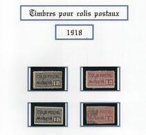 Colis Postaux 1918 - Serie N°15 à N°17* Charnière Légère  Et N°18 Obl  - Cote 13.50€  - TB - Otros