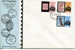 Botswana Mi# 234-6 Used On Official FDC - Stamp On Stamp - Botswana (1966-...)