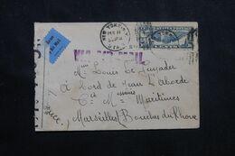 ETATS UNIS - Enveloppe De New York Pour La France En 1941 Avec Contrôle Postal - L 70788 - Briefe U. Dokumente
