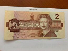 Canada 2 Dollars Circulated Banknote 1986 #3 - Canada
