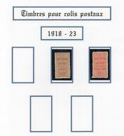 Colis Postaux 1918/23 -  N°29 Sg  Et N°30 Plis Vertical  - Cote 80€  - TB Et Def - Otros