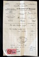 Facture Mme Vignot  Maucotel Deschamp Luthier Violon 1940 Timbre 1,20 Franc - 1900 – 1949