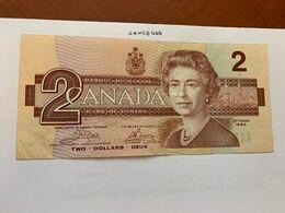Canada 2 Dollars Circulated Banknote 1986 #4 - Canada