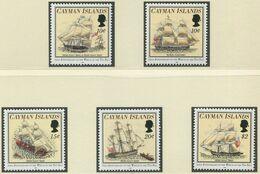 """KAIMAN-INSELN / MiNr. 716 - 720 / 200. Jahrestag Des Schiffbruchs Der """"Ten Sail"""" / Postfrisch / ** / MNH - Barche"""