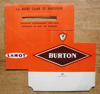 Brasserie Lamot. Porte Bouteilles En Carton. Burton. Bière Saine Et Digestive. - Non Classificati
