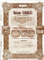 MAISON SAROLEA; Part Sociale (motos) - Cars