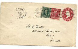 USA Entier Postal 2c + Complément 1c + 2c - 1901-20