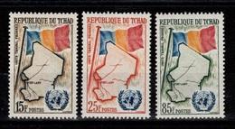 Tchad - YV 63 à 65 N** Complete Drapeau & Carte - Ciad (1960-...)