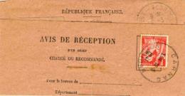 Avis De Réception De Carnac (Morbihan) - 1941 - France