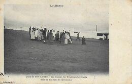 Maroc )   BEN AHMED  -  Poste De Ben Ahmed - Les Femmes Des Tirailleurs Sénégalais Dans Un Tam Tam De Réjouissance - Morocco