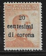 Austria, Italian Occupation Trieste, Scott # N68 Mint Hinged Italy Stamp Surcharged,1919 - Unused Stamps