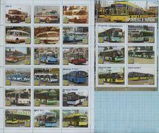 UKRAINE / Private Issue / Vignettes / History. Transport . Ukrainian Busses. Autobus. Bus. 2020 - Busses
