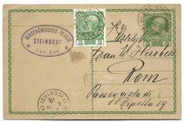55 - 21 - Entier Postal Avec Affranchissement Complémentaire Envoyé De Steindorf à Rome 1916 - Stamped Stationery