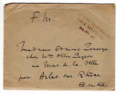 Lettre Avec Tampon Section D'infirmiers , Train Sanitaire N° 9 - Guerre De 1914-18