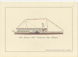 Alt473 Piroscafo Piemonte Navigazione Lago Maggiore Steamer Bateau à Vapeur Dampfer - Schiffe