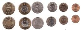 Taiwan - Set 6 Coins 0,5 1 5 10 20 50 Yuan 1981 - 2019 UNC Lemberg-Zp - Taiwan