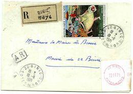 Lettre Recommandée De Binic. (Côtes Du Nord) - 1970 - France