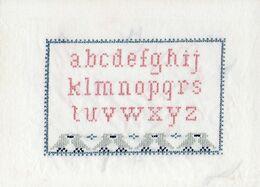 ALPHABET Brodé Sur Tissu. - Cross Stitch